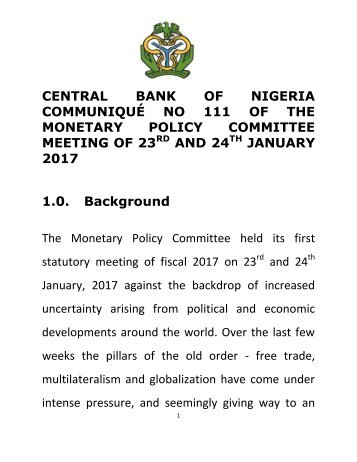 Central%20Bank%20of%20Nigeria%20Communique%20No%20111%20of%20the%20Monetary%20Policy%20Committee%20Meeting%20of%2023rd%20and%2024th%20January%202017