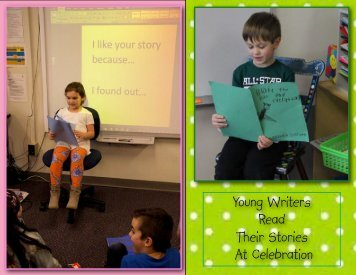 Young Writers Read Their Stories At Celebration