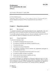 Ordonnance sur la protection des eaux 814.201