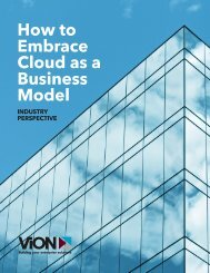 How to Embrace Cloud as a Business Model