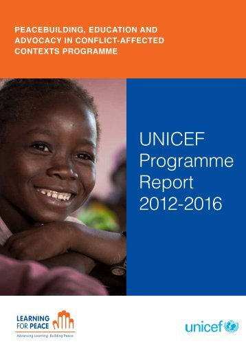UNICEF Programme Report 2012-2016