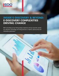 INSIDE E-DISCOVERY & BEYOND E-DISCOVERY COMPLEXITIES DRIVING CHANGE