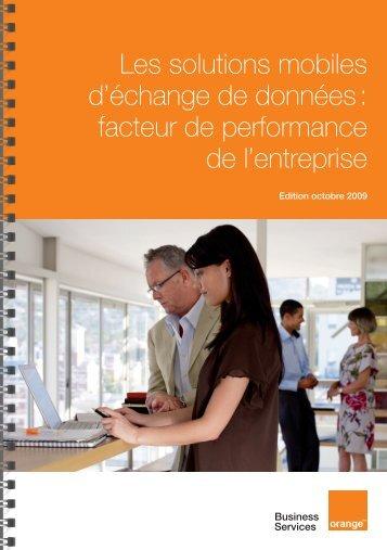 Les solutions mobiles d'échange de données - Orange-business.com