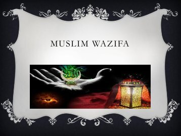 Muslim Wazifa