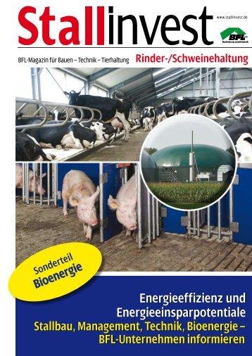 Rinder-/Schweinehaltung mit Sonderteil ... - Stallinvest.de