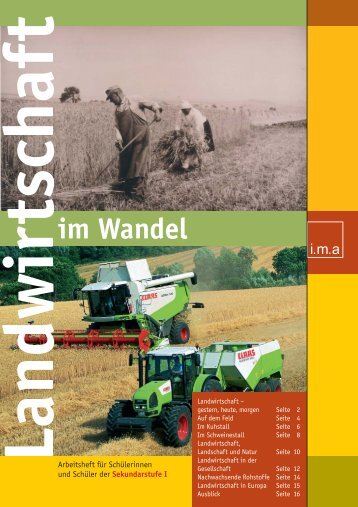 Landwirtschaft im Wandel - information.medien.agrar eV