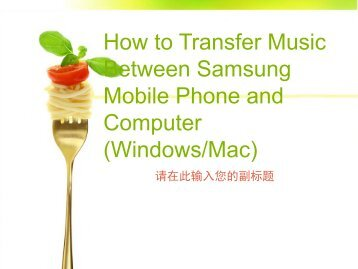 How to Transfer Music Between Samsung Mobile Phone and Computer (WindowsMac)
