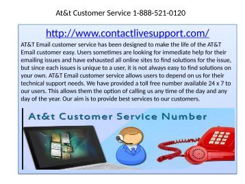 Get AT&T Email Customer support for holding error free account 1-888-521-0120