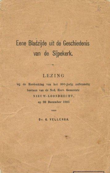 Eene bladzijde uit de geschiedenis van de Sijpekerk