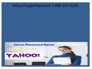 Yahoo and Yahoo.com are 'having a problem accessing 1-888-521-0120