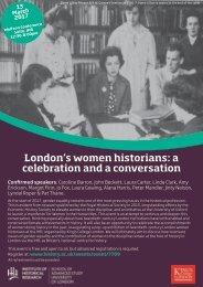London's women historians 13 March 2017