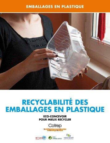 RECYCLABILITé DES Emballages en plastique