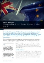 Europe's Brexit task forces the who's who guide