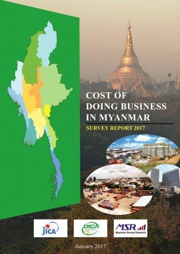 COSTOF DOING BUSINESS IN MYANMAR