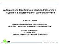 Automatische Spurführung von Landmaschinen Systeme ...