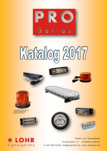 LOHR Signalgeräte PRO Series Gesamtkatalog 2017