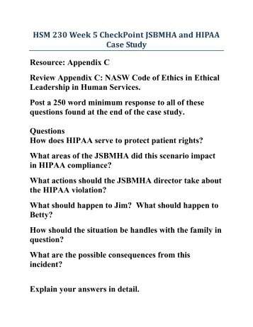 hipaa case study Below is a case study summarizing the successful implementation of hipaa policy in a large health network adventist health adventist health is multi-facility ,.
