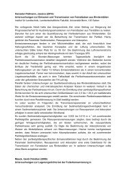 Kurzfassungen - Landwirtschaftliche Fakultät der Universität Bonn