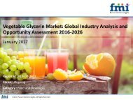Vegetable Glycerin Market