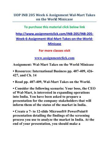 it 205 assignment week 8 For more course tutorials visit wwwuopit205com assignment: bead bar e-commerce site microsoft® powerpoint® presentation in this assignment, you will exercise critical thinking skills.