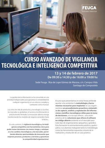 CURSO AVANZADO DE VIGILANCIA TECNOLÓGICA E INTELIGENCIA COMPETITIVA