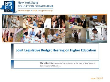 Joint Legislative Budget Hearing on Higher Education