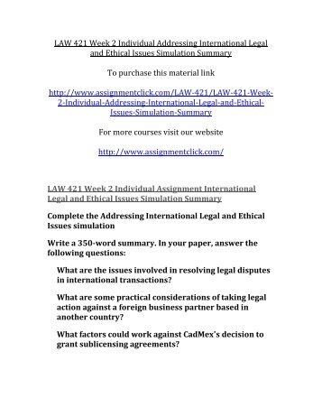 addressing international legal and ethical issues essay With specific focus on the political problem it poses and the proper approach to addressing th [tags: politics, ethical egoism powerful essays: legal and ethical issues in school counseling - the topic of there are a number of issues that affect international business ethics.