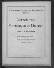 Verzeichnis der Vorlesungen und Übungen samt den Stunden- und Studienpänen Wintersemester 1919/20