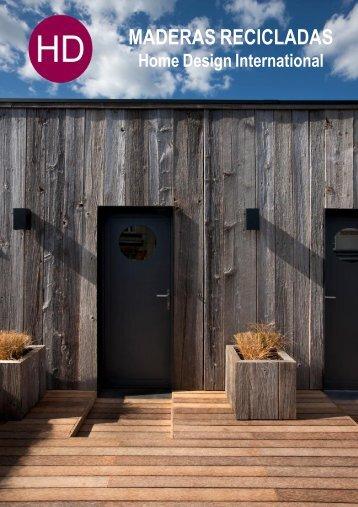 MADERAS RECICLADAS -  Home Design Catálogo 2015