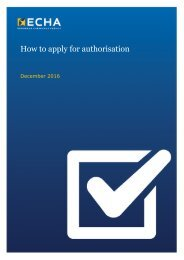How to apply for authorisation