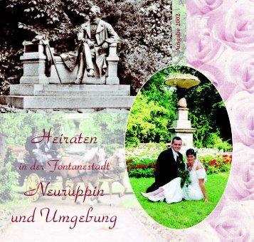 Heiraten in der Fontanestadt Neuruppin und Umgebung