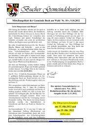 Freitag 12.10.12 - Buch am Wald