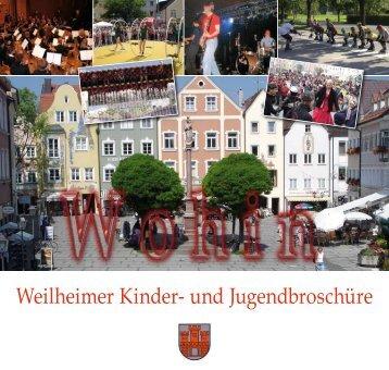 Weilheimer Kinder- und Jugendbroschüre