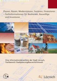 Planen, Bauen, Modernisieren, Sanieren, Finanzieren ...