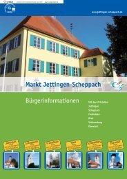 Markt Jettingen-Scheppach Bürgerinformationen