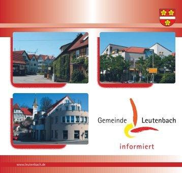 Bürger-Informationsbroschüre der Gemeinde Leutenbach
