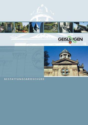 2008: 400 JAHRE GEISLINGER FRIEDHOF IN RORGENSTEIG