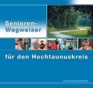 Senioren- Wegweiser für den Hochtaunuskreis Senioren ...