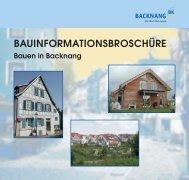 Bauen in Backnang