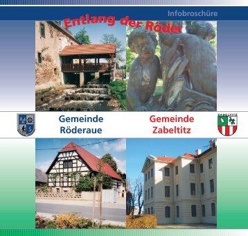 Gemeinde Zabeltitz mit den Ortsteilen