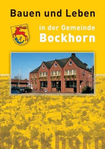 Informationsbroschüre - Bauen und Leben in der Gemeinde Bockhorn