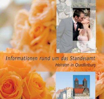 Heiraten in Quedlinburg - Telefonnummer anzeigen