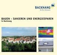 BAUEN - SANIEREN UND ENERGIESPAREN