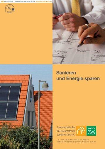 Sanieren und Energie sparen