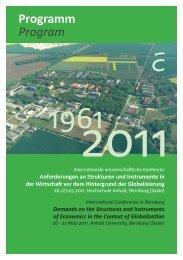 Plenarveranstaltung Plenary Session - Hochschule Anhalt