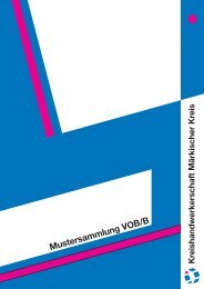 Mustersammlung VOB/B - Kreishandwerkerschaft Märkischer Kreis