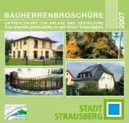 Bau-Informationsbroschüre der Stadt Strausberg