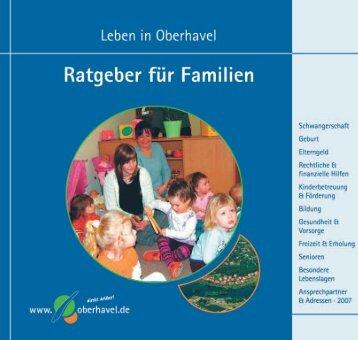 Informationsbroschüre - Ratgeber für Familien