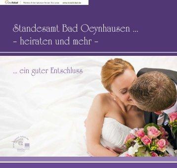 Standesamt Bad Oeynhausen ... – heiraten und mehr –