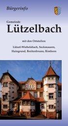 Bürger-Informationsbroschüre der Gemeinde Lützelbach